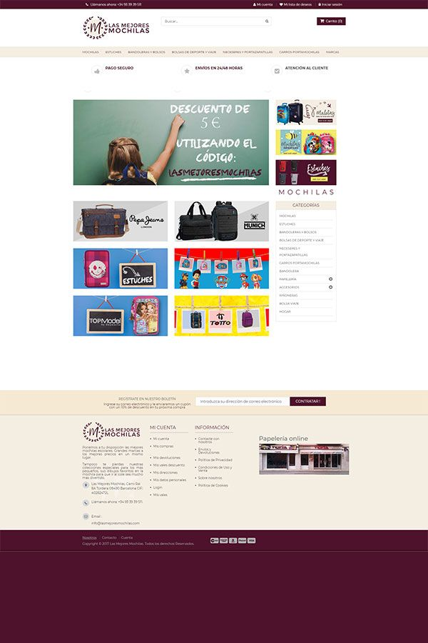 Tienda online Las Mejores Mochilas