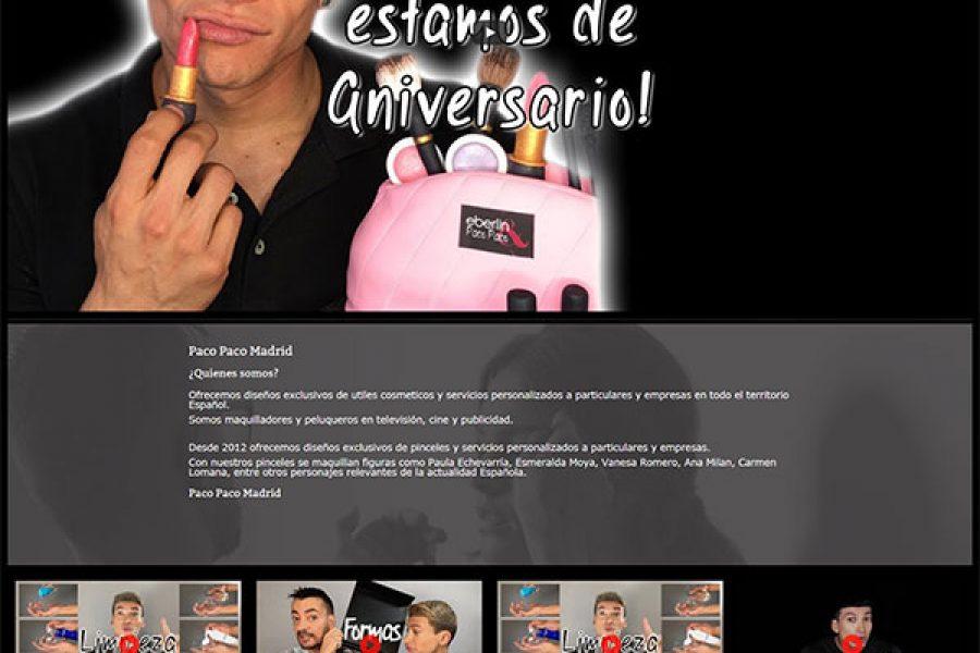 Actualización Tienda Online Paco Paco Madrid