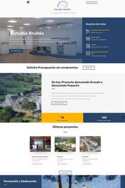 Diseño web Estudio Brullés